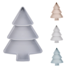 Creative Christmas Tree Shape Candy Snacks Nuts Seeds Dry Fruits Plastic Plates Dishes Bowl Breakfast Tray Home Kitchen Gadgets