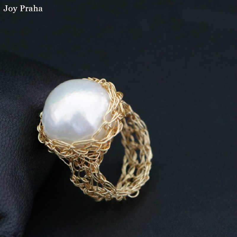 Натуральный пресноводный инопланетный жемчуг кольцо/барокко Стиль кольцо ювелирные изделия/Оптовая Прямая поставка