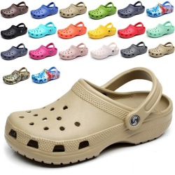 Summer Men's Clogs Quick Dry Casual Home Slippers Male Garden Shoes Beach Sandals Mules Antiskid Bathroom Slippers Flip Flops