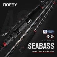 NOEBY UNENDLICHE Angelrute 2,49 m 2,7 m 2,96 m Lange Spinnerei Casting für Seabass Mit FUJI Guide Ringe Reel sitz Pesca Carbon