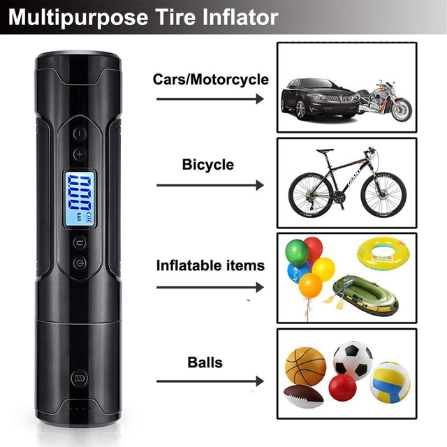 Portable  Tire Inflator Mini Rechargeable  4