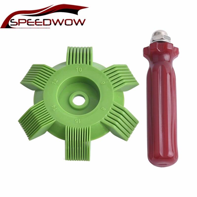 SPEEDWOW Auto A/C Kühler Kondensator Verdampfer Fin Spule Kamm Klimaanlage Spule Haarglätter Reinigung Werkzeug Auto Kühlsystem