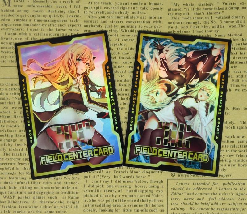 2pcs/set H-Ver Flash Sword Princess Field Center Cards Yugioh Sky Striker Ace Popular Orica Collectible Foil Card