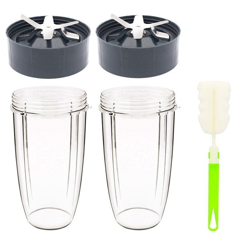 32Oz Cup and Extractor Blade Replacement Parts Blender Accessories Compatible with 600W/900W Models