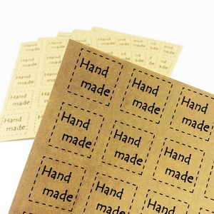 240 pcs/lot Hand Made DIY Square Dotted Line Seal Sticker For Handmade Products / self-adhesive Package Label scrapbook