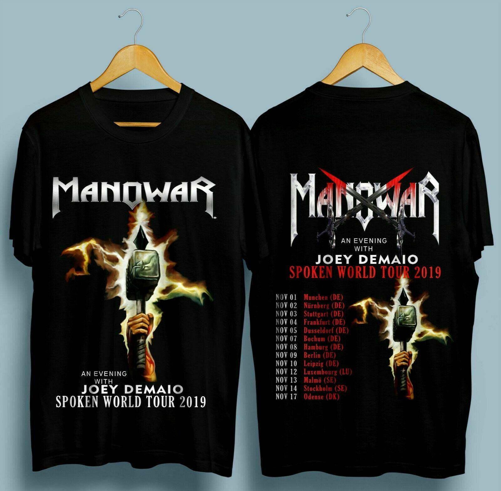 New Manowar Spoken World Tour November 2019 Black T Shirt S-2XL 2019 New Arrival Funny