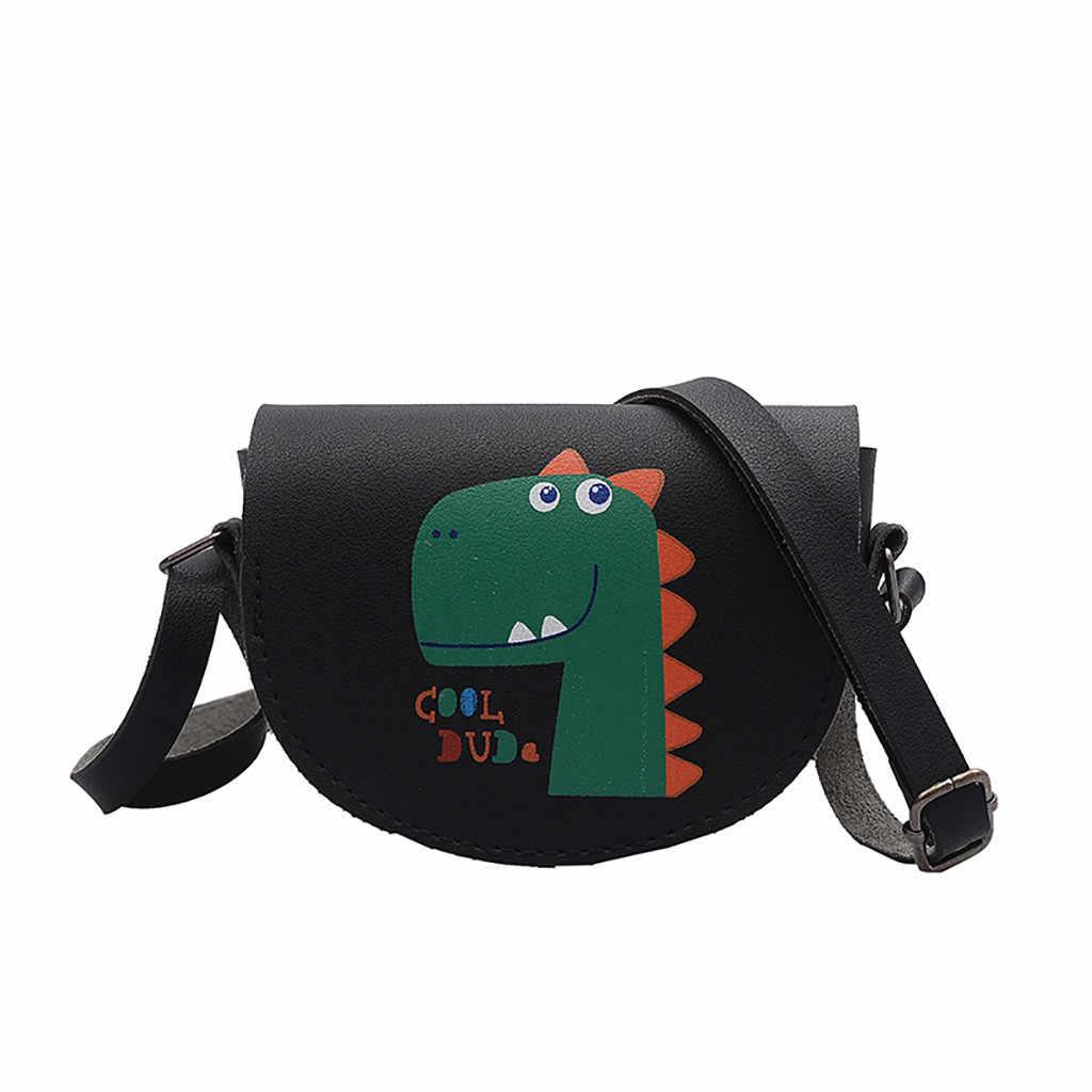 เด็กการ์ตูนน่ารักขนาดเล็กกระเป๋าผู้หญิงหนึ่งไหล่แตงโมไดโนเสาร์พิมพ์ Messenger กระเป๋าแฟชั่น Crossbody กระเป๋ากระเป๋าถือ