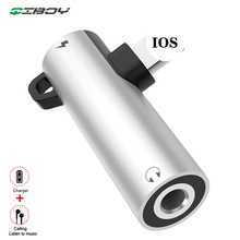 For Lightning to 3.5mm Jack Headphone Aux Audio Adapter For iPhone X 7 8 Plus OTG Adapter Converter Splitter Support IOS  System цены онлайн