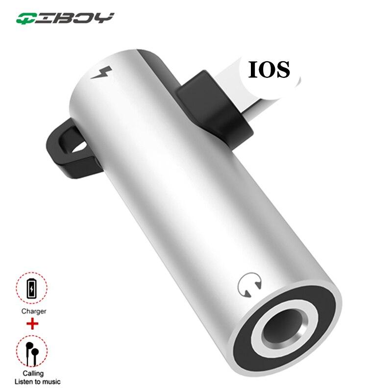 Que la Foudre 3.5mm Prise Casque Audio Adaptateur Pour iPhone X 7 8 Plus OTG Adaptateur Convertisseur Répartiteur Charge Le Système IOS