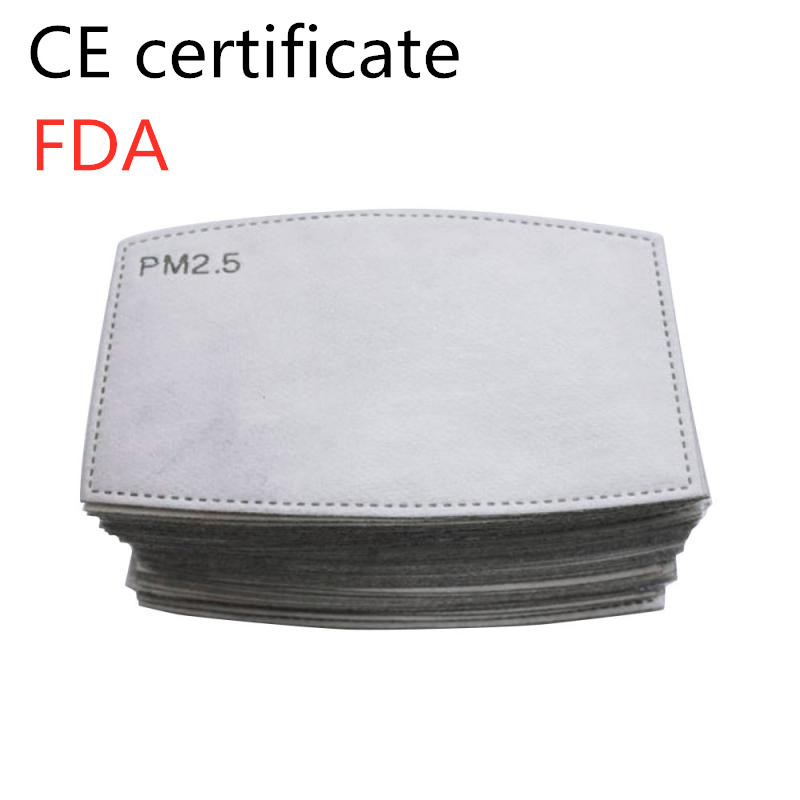 Security Protection Face Mask Filter Anti PM2.5 Haze Dustproof Active Carbon Filter Active Carbon Mask Filter IN STOCK