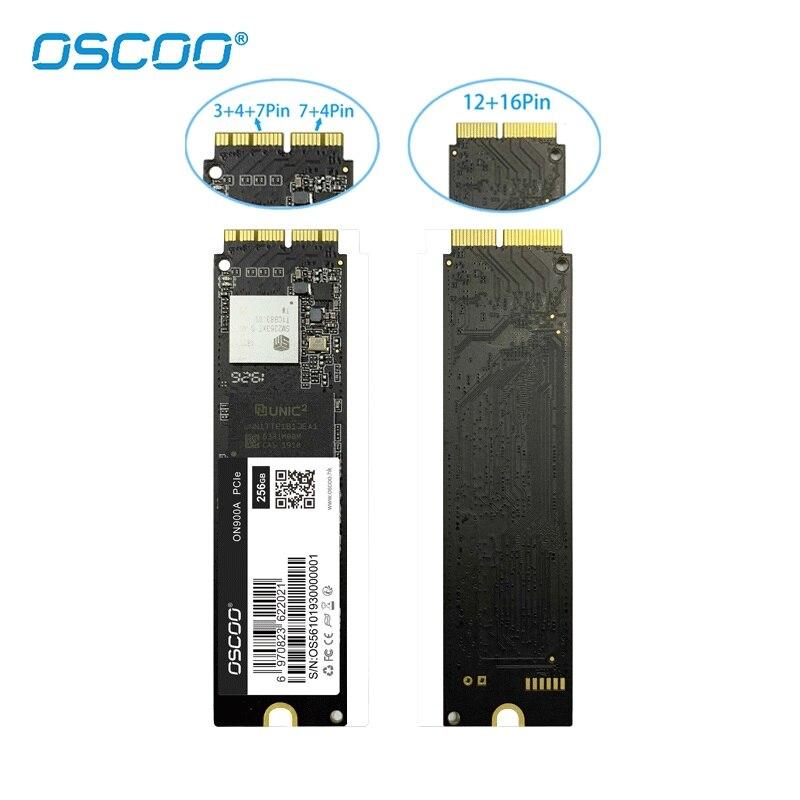 OSCOO M.2 NVMe PCIe Gen3.0*4 SSD For MacBook Air 2015 2016 A1466 2013 Mac mini A1347 Internal Solid State Drive 256GB 512GB 1TB-4