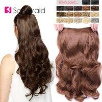 SAMBRAID волосы для наращивания, синтетические волосы на 4 клипсах, одна штука, 24 дюйма, натуральные длинные волосы, 190 г для женщин