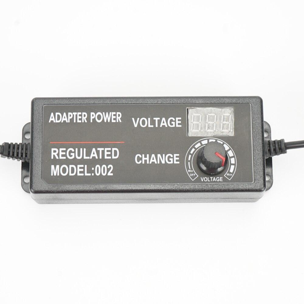 Power Supply Adjustable AC100-240V to DC3V-24V 2A Power Adapter Transformer Universal Adaptor EU/US Plug