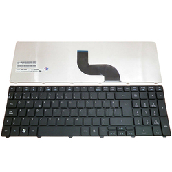 Teclado espanhol para acessório aspior 5733 5733z 5250 5340 5349 5360 5750g 5750zg 5750 5800 5741z 5810 preto teclado sp teclado