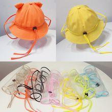 Máscara transparente de proteção infantil, máscara removível e completa contra poeira e vento para áreas externas