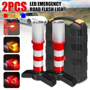 2 sztuk LED latarka magnetyczna awaryjne drogowe flary odpinany stojak Beacon bezpieczeństwa światło stroboskopowe ostrzeżenie sygnał ostrzegawczy SOS lampa