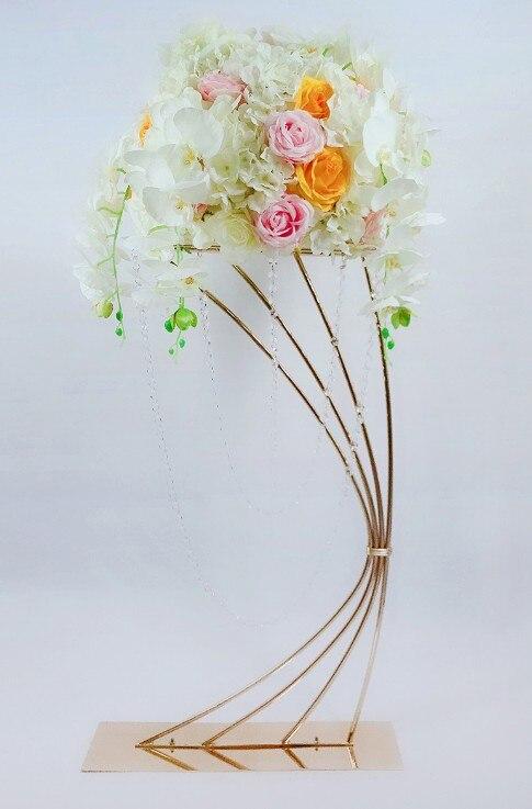 Грандиозное событие хрустальный свадебный цветок стенд цветочный стеллаж ваза для торта держатель для свадьбы День рождения отель стол це... - 5