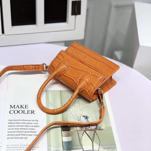 Mini Crocodile Pattern Shoulder Bags 3