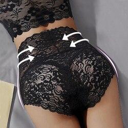 M-3XL Floral Lace Panties Sexy Underwear for Women High Waist Pantys Lingerie Female Seamless Panties Briefs Underpants Hot Sale