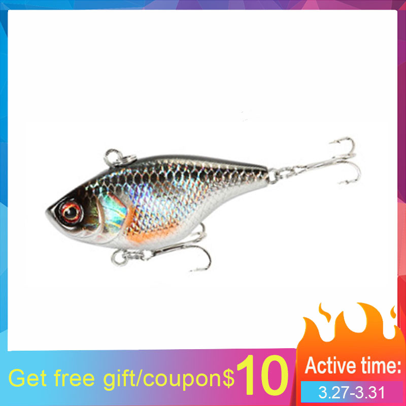 Fishing Lure VIB Ratlin And Vib For Winter Hard Bait Lures 3d 40mm 4.6g Sinking All Depth Pike Seabass Isca Artificial V029
