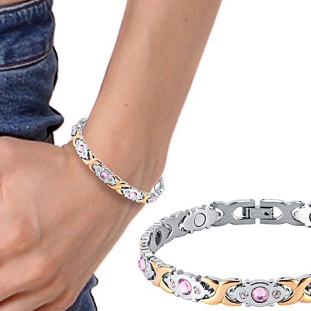 3 вида цветов, модные браслеты, ювелирные изделия, энергетические браслеты для здоровья, магнитные браслеты для женщин P3K7