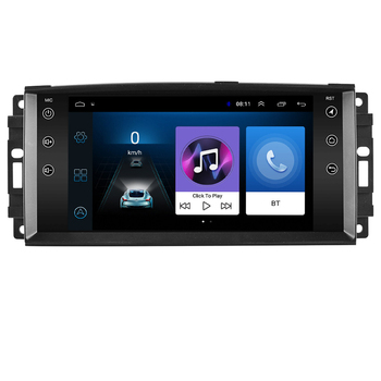 2 Din Android Car Radio multimedia player navigation GPS For jeep Compass Commander Grand Cherokee Wrangler Liberty Patriot image