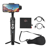 Foldable Mini S Handheld 3 Axis Smartphone Gimbal Stabilizer Object Tracking 280g Payload with 1/4 Mini Tripod Pouch for iPhone