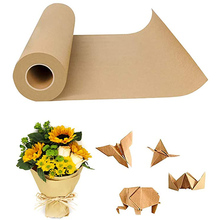 Natural Kraft Paper Wrapping Roll 60 Meters For Wedding Small Business Commodity Packaging Decoration Supplies Packing Art Craft