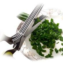 15cm Hackfleisch 5 Schichten Basilikum Rosmarin Küche Scissor Geschreddert Gehackt Scallion Cutter Kraut Laver Gewürze Kochen Tool Cut 2020 heißer