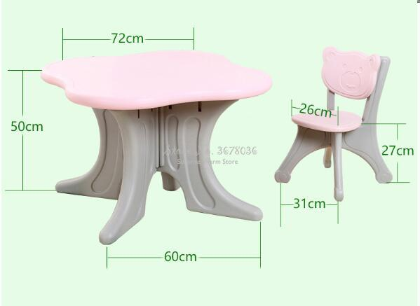Foldable Children's Table Chair Kindergarten Eco-friendly Plastic Folding Table Chair Home Table StudyTable For Kids Gift