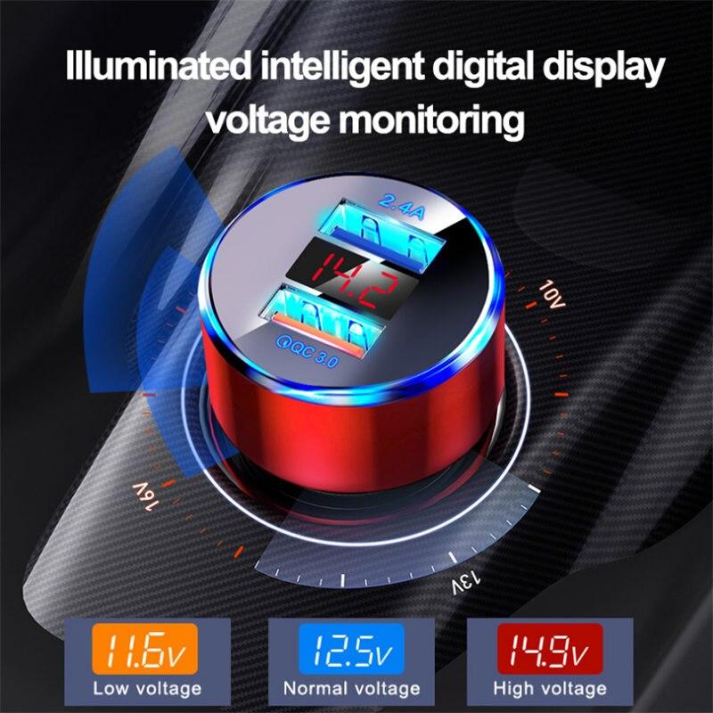 Сетевое зарядное устройство QC3.0 быстрое зарядное usb-устройство для автомобиля, сигаретная Зажигалка мобильный телефон быстрое зарядное уст...