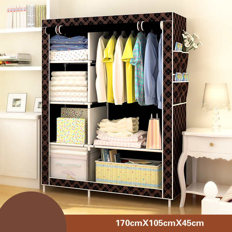 Image 3 - Bedroom Furniture Wardrobe Bedroom Cabinet Cloth Room Storage Assembly Multifunction Simple And Modern Furniture Closet JC042Wardrobes   - AliExpress