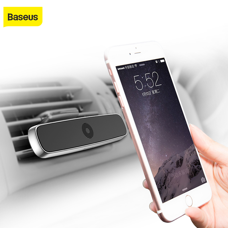 Baseus Car Phone Holder For Iphone X 6 6S 7 Magnetic Car Air Vent Mount Mobile Holder Magnet Magnetico Supporto Del Telefono