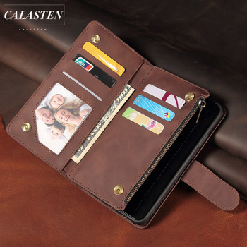Zipper Leather Case For iPhone 11 Pro Max X XR XS 7 8 6 6s Plus SE 2020 Wallet Flip Phone Bag Cover With Card Pocket Stand Coque