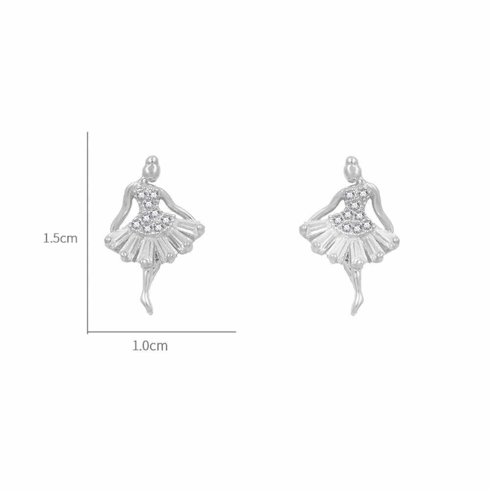 New Simple Women Earings Stud Cute Ballet Earrings For Girls Dancer Ballerina Earrings Gold Femme Aliexpress