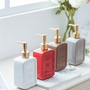 Image 5 - 470ML Liquid Soap Dispenser Ceramic Shampoo Hand Sanitizer Pump Bottle Kitchen Bathroom Accessories Outdoor Travel Bottle