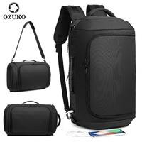 OZUKO Multifunktions Große Kapazität Rucksack Wasserdichte Anti-diebstahl Reisetasche Männer USB Lade Rusksack Laptop Tasche Schulter Pack