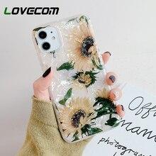 LOVECOM funda para teléfono para iPhone 11 Pro Max XR XS Max 7 8 Plus 6 6S girasol Vintage sueño Concha suave IMD cubierta Coque regalos