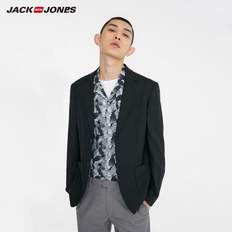 JackJones Men's Slim Fit Fashion Wool Casual Blazer Menswear Basic Coats 219108510