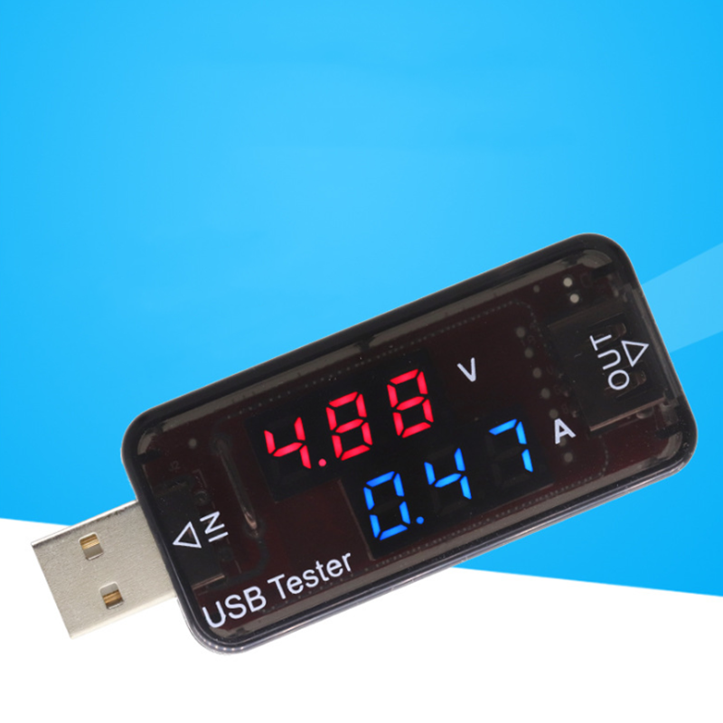 Đỏ Xanh Dương Màn Hình Hiển Thị Kép USB Bút Thử Điện 5V 12V Kỹ Thuật Số Khuếch Xe Đồng Hồ Đo Điện Áp Máy Phát Hiện Điện Áp, Ngân Hàng sạc Bác Sĩ