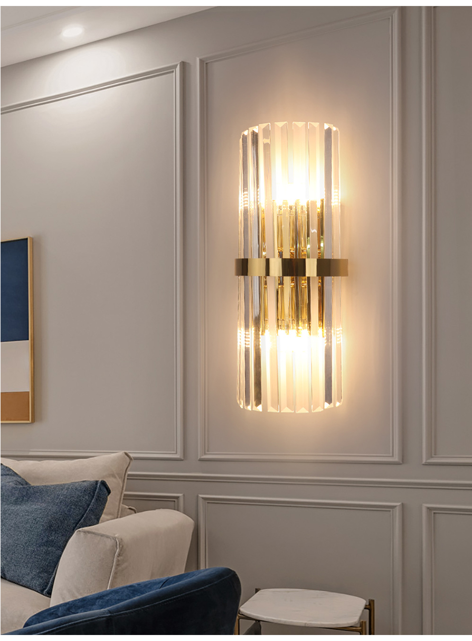 Modern Led Crystal Wall Light Gold Home Decor Wall Lighting Fixture Bedroom Hallway Wall Sconce Lamp Fast Shipping Via Dhl Fedex Led Indoor Wall Lamps Aliexpress