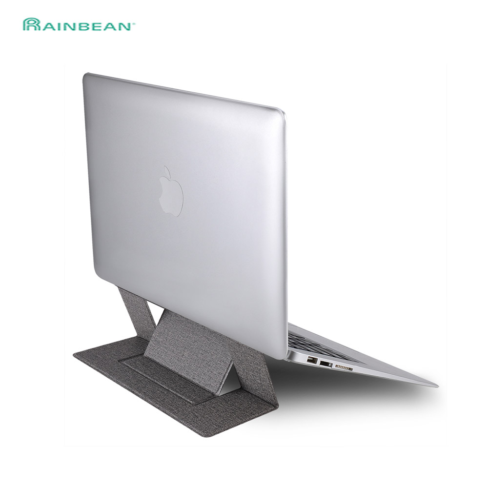 Adjustable Invisible Laptop Stand Lightweight Computer Adhesive  Stand Pad Folding Bracket Portable Tablet Holder For IPad MacBook