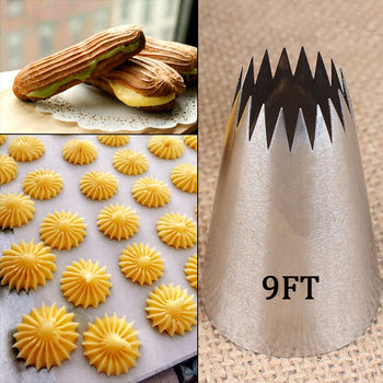 # 9FT duży dysze do lukrowania rosyjskie końcówki wskazówki dotyczące pieczenia ciasta ciasteczka dekorowanie ciast narzędzia porady krem masa cukrowa dysze tanie i dobre opinie CN (pochodzenie) Na stanie Ekologiczne KBNP0084 Stainless Steel Approx 20*49*35mm #9FT 1pcs Cream Nozzles Nozzles Set For Cake Tool