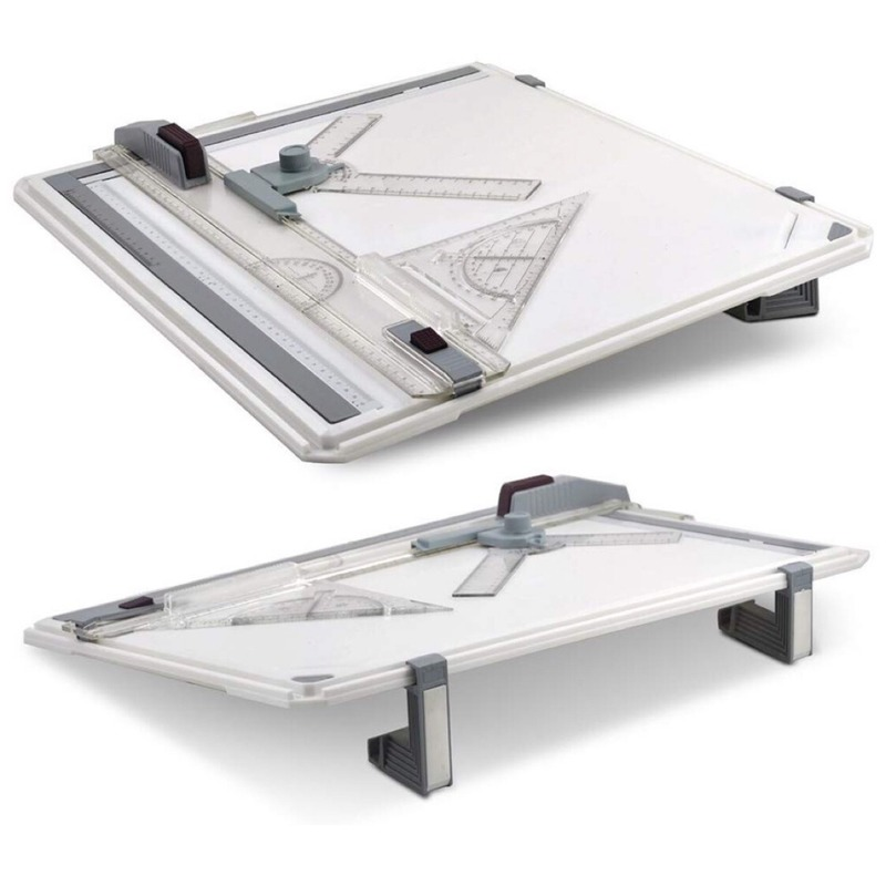 A4 Multi-function Drawing Board Tools Drawing Board Adjustable Parallel With Clear Rule Graphics Angle Measurement