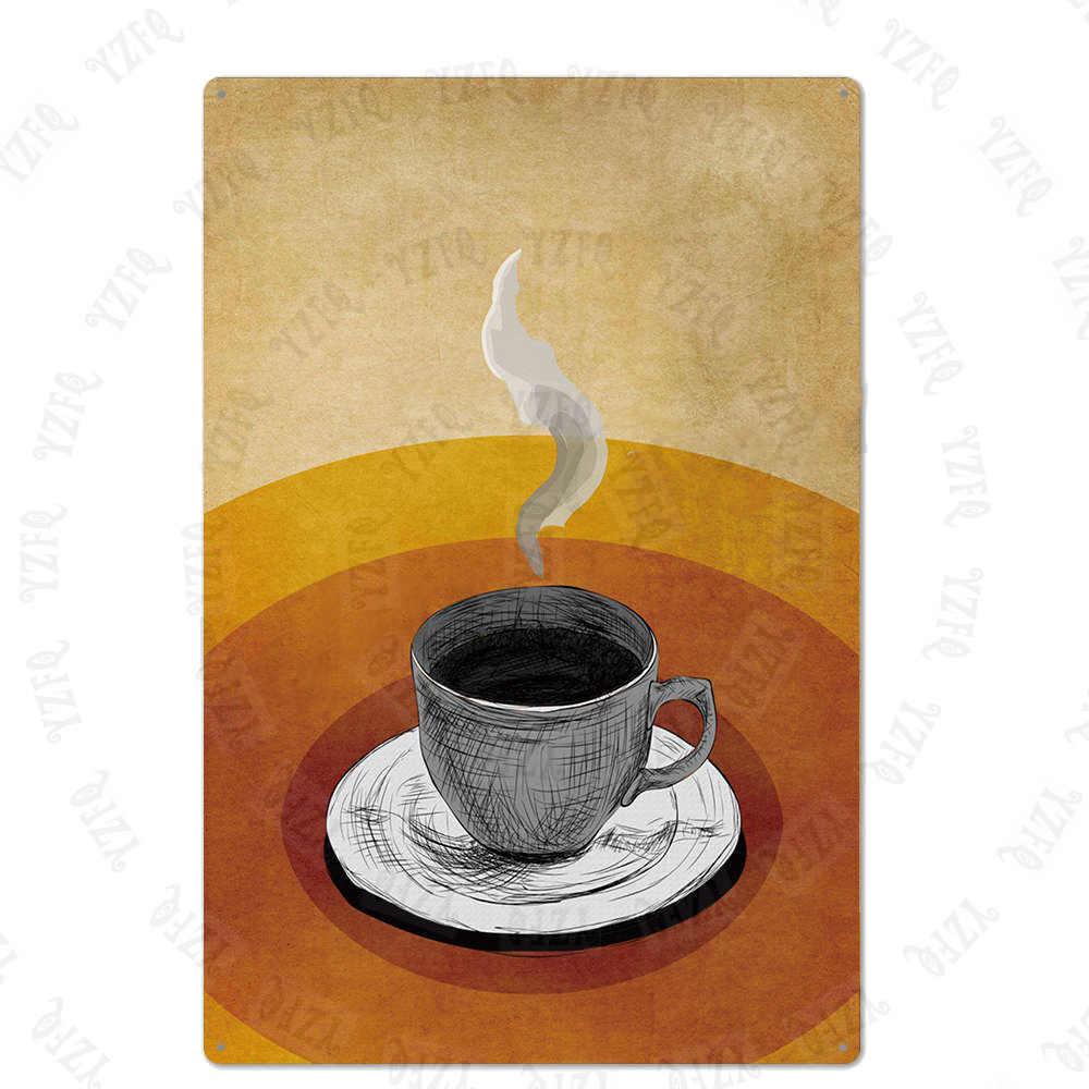 Italyan kahve işareti plak Metal Vintage teneke plaka duvar Bar kahve evi dükkanı restoran ev sanat zanaat dekor 30X20CM XP (961) bir