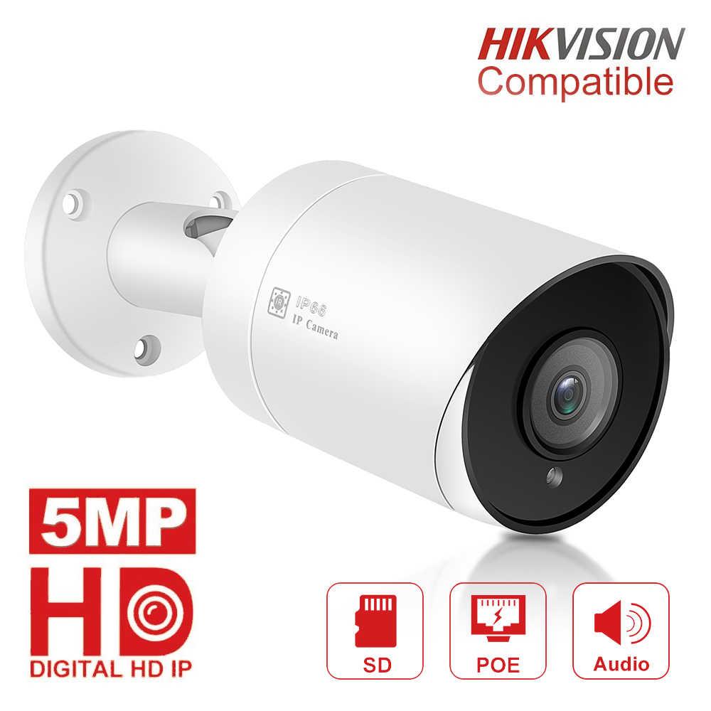 5MP HD Bullet IP Ngoài Trời Ngoài Trời Chống Nước Hồng Ngoại 30 M Tầm Nhìn Ban Đêm An Ninh Video Camera Giám Sát
