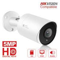 5MP Hd Pallottola Ip Camera Outdoor/Indoor Impermeabile a Raggi Infrarossi 30 M di Visione Notturna Video di Telecamere di Sicurezza Telecamere di Sorveglianza