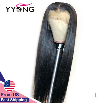 YYONG 13X1 Hairline Straight Lace Front Wigs 150% Density 13X4 Remy Human Hair Lace Front Wigs HD Transparent Lace Part Wig 32in yyong 13x1 hairline straight lace front wigs 150% density 13x4 remy human hair lace front wigs transparent lace part wig 32in
