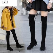 Size 35-41 Winter Over The Knee Boots Women Stretch Fabric Thigh High Sexy Woman Shoes Long Bota Feminina Zapatos De Mujer 2019(China)