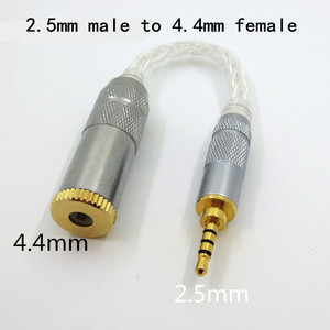 Image 4 - Audio Earphone 8 core single crystal copper silver plated cable adapter male to female 3.5mm 4.4mm 2.5mm adapter converter plug